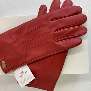 Women's - Coach - Leather Gloves